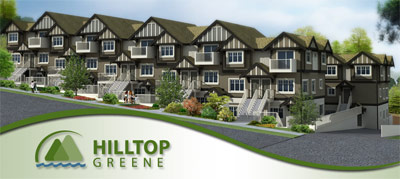 The presales Burnaby Hilltop Greene townhomes are a unique and small collection of family friendly floor plans.