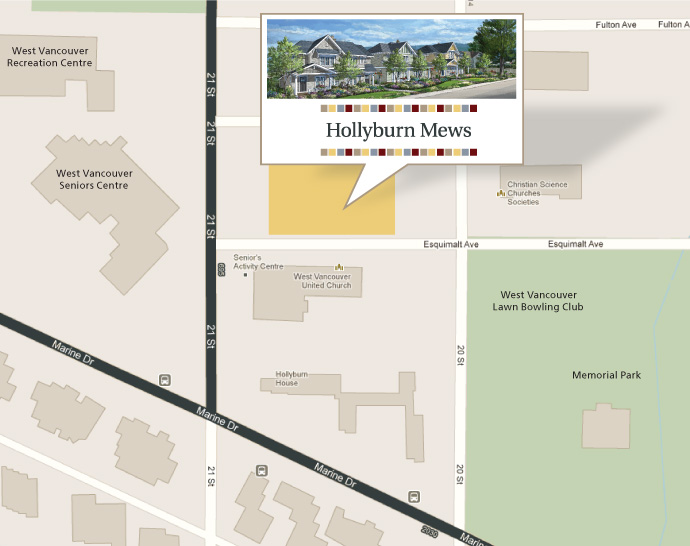 Luxury West Vancouver Hollyburn Mews Duplexes and Coach Houses now selling.