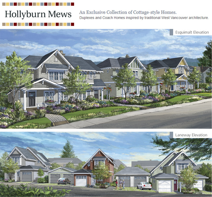 Long awaited Hollyburn Mews West Vancouver real estate development near Marine Drive.
