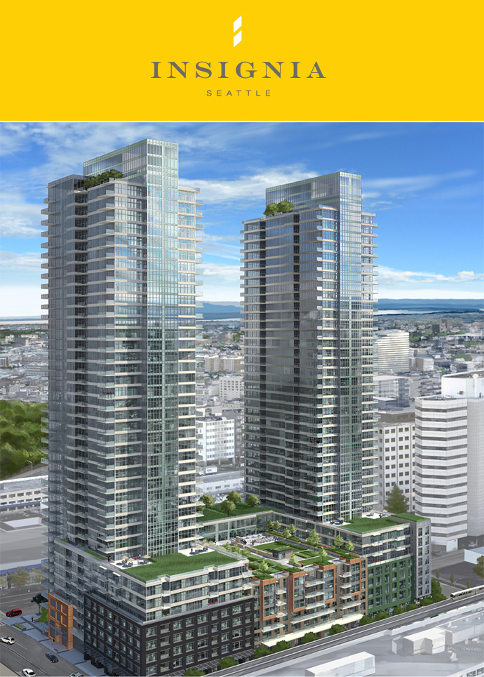 Vancouver based Bosa developers introduces the new Seattle Insignia condo towers.