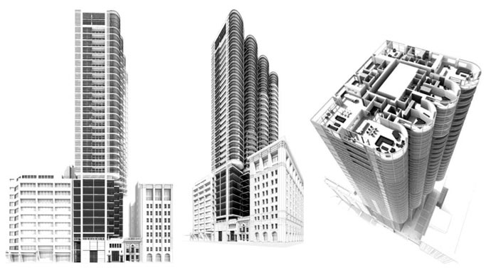 More renderings of the Downtown Vancouver Jameson House condo tower by Foster and Partners Architects.