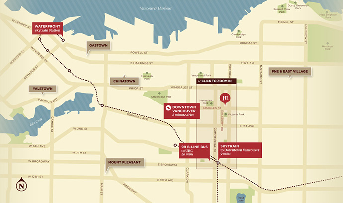 Location Map of the stately Jeffs Vancouver Residence project.