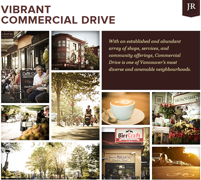 The Commercial Drive Jeffs Manor Residences and Boutique Vancouver Jeffs Townhouses for sale.