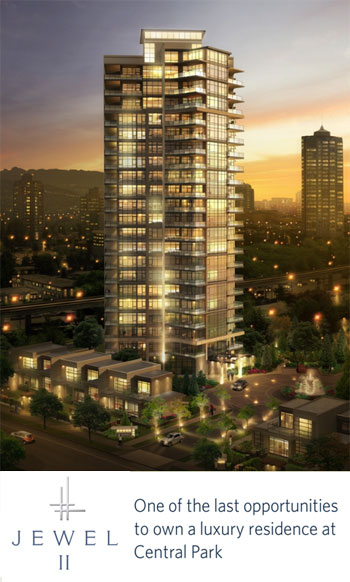 Your last opportunity to own at the new Burnaby Jewel II at Central Park condo community near Metrotown.