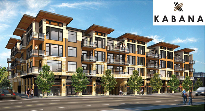 Exterior image of the new Kabana Burnaby condos for sale.