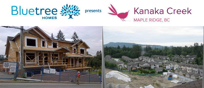New Maple Ridge Kanaka Creek by Bluetree Homes now underway.