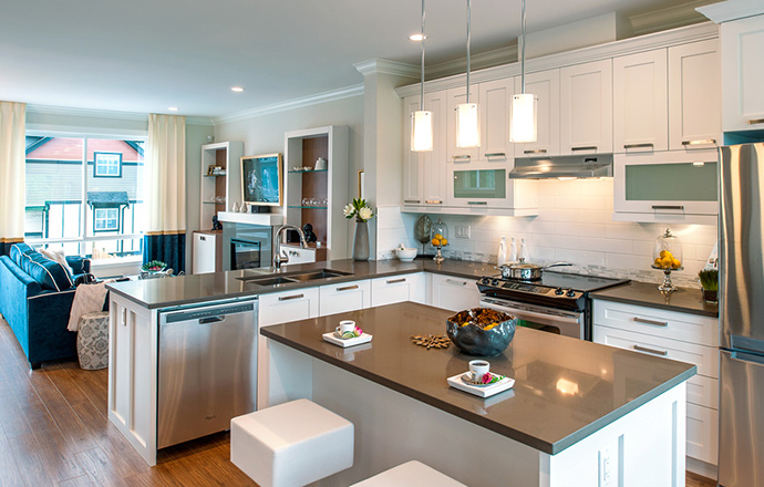 Beautiful gourmet kitchens at Kendra Living in Surrey BC.