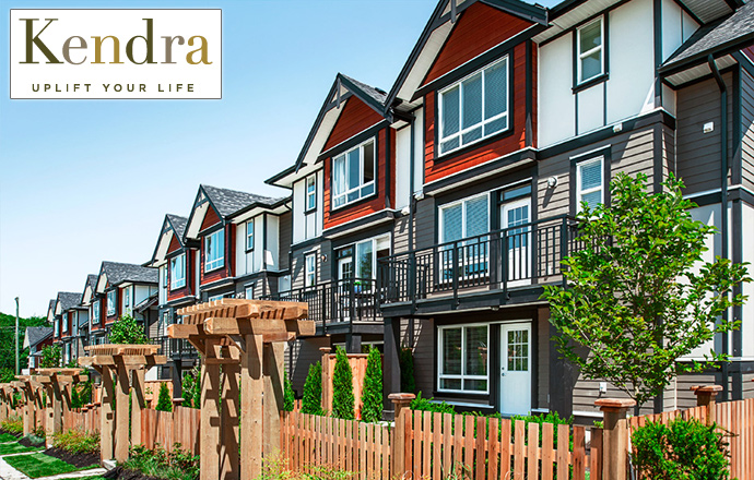 South Surrey Kendra Townhomes by Hayer Properties.