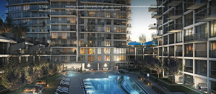 5 star hotel style amenities at Kensington Vancouver condo masterplanned neighbourhood by Westbank.