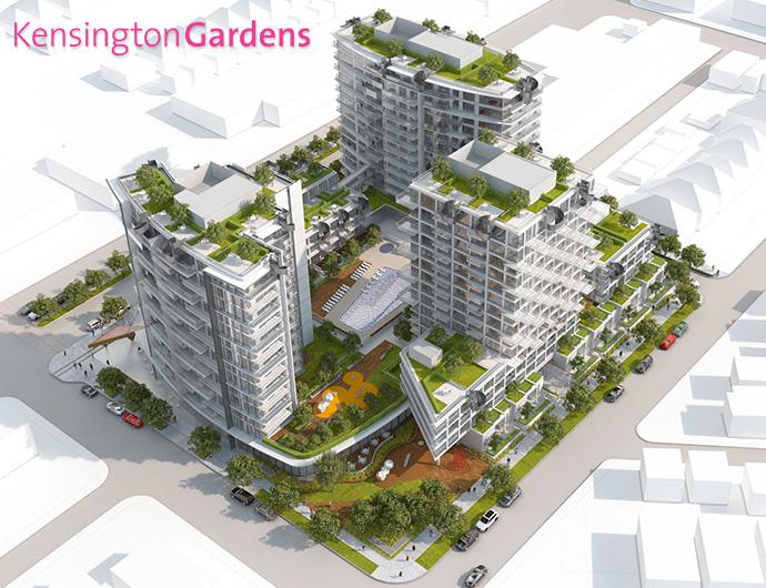 Kensington Westbank Vancouver Kingsway condo master plan.