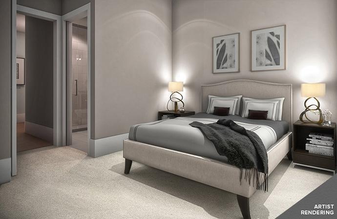 Bedrooms at Kerrisdale Gardens condos in Vancouver Westside real estate market.