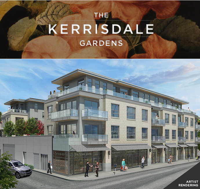 Allan Diamond Architect designed the Luxury Vancouver Kerrisdale Gardens condo building exterior.