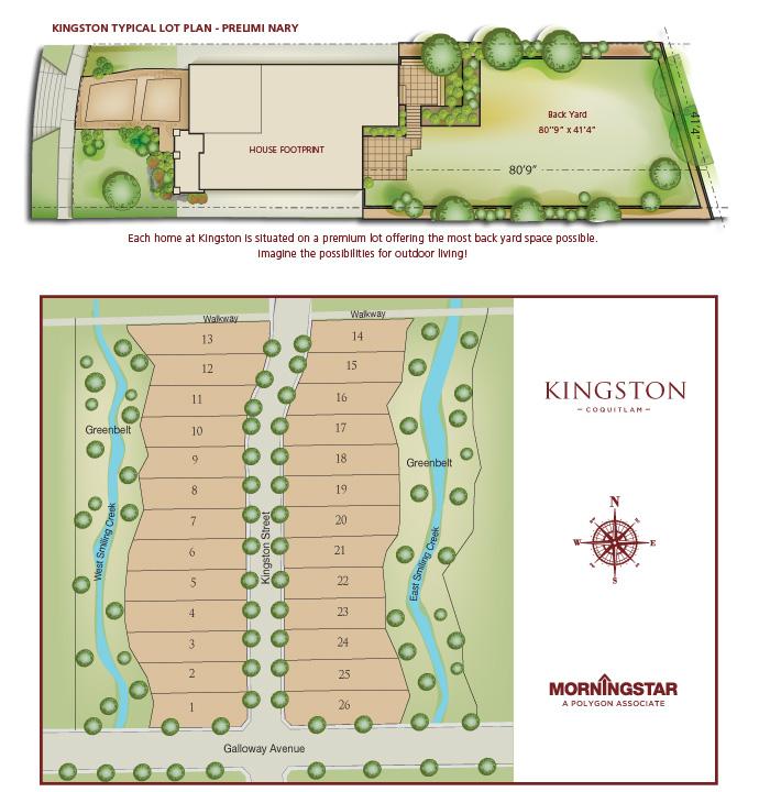 the Morningstar Kingston Coquitlam real estate development site plan.