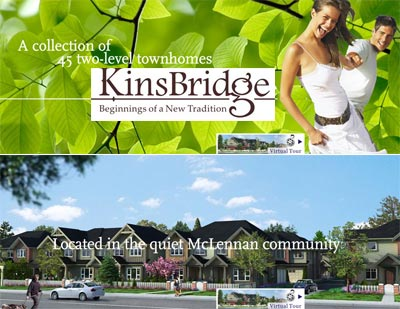 The pre-construction Richmond Kinsbridge Homes for sale include single family houses, duplex and triplex style townhomes.