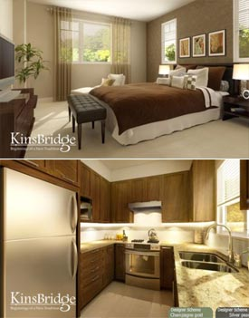 Three and four bedroom homes are available for sale at Kinsbridge Richmond property development which is launching pre-sales August 8th, 2009.