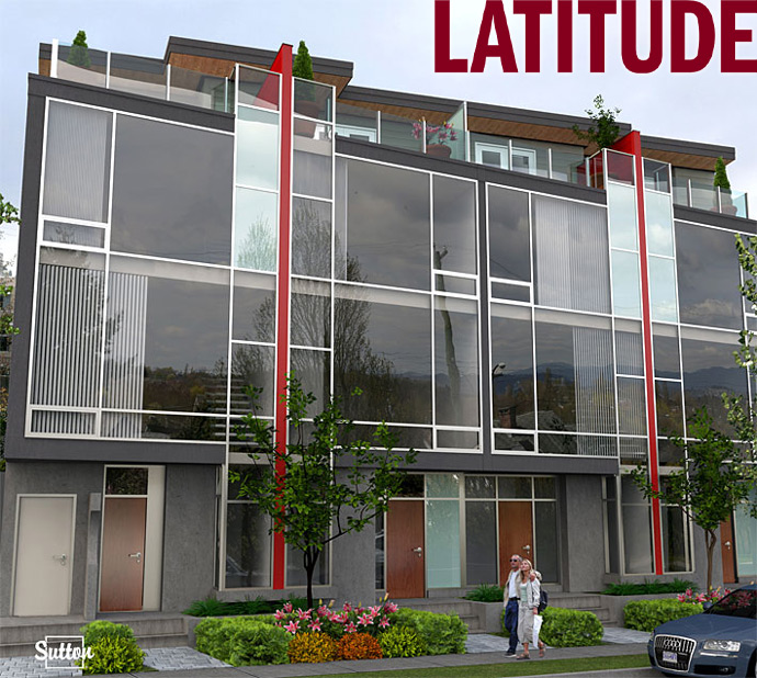 Boutique Vancouver Latitude Townhomes by Sightline Group, Bastion Development and Interform Architects