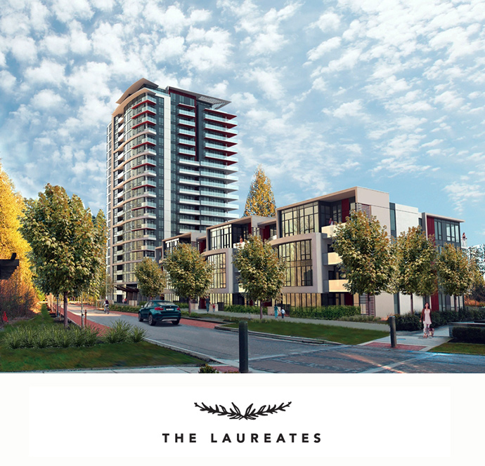 The Laureates at Wesbrook Village UBC Vancouver West Side condos by Polygon are now previewing.