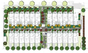 The Listraor real estate development at Laurel Living Burnaby City homes for sale are by the same developer as the Carrington Townhomes along Oak STreet in Vancouver.