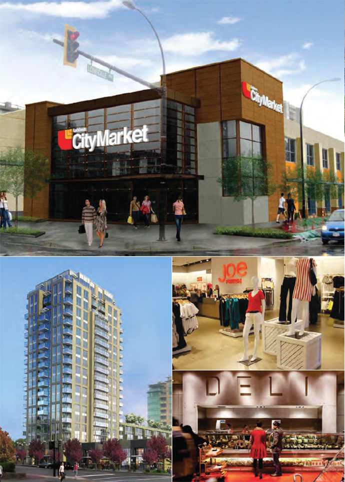 Rendering of the new Central Lonsdale Loblaws CityMarket North Vancouver City Market grocery store.
