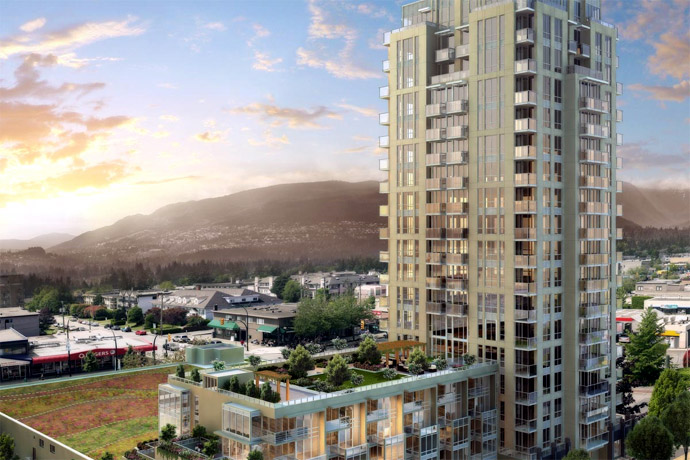 New rendering of the LOCAL North Vancouver condo tower.