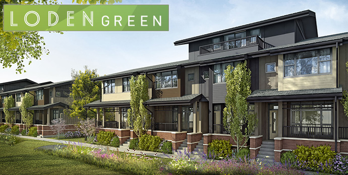 Built Green Gold North Vancouver LODEN GREEN Townhomes are single family inspired townhouses on the North Shore.
