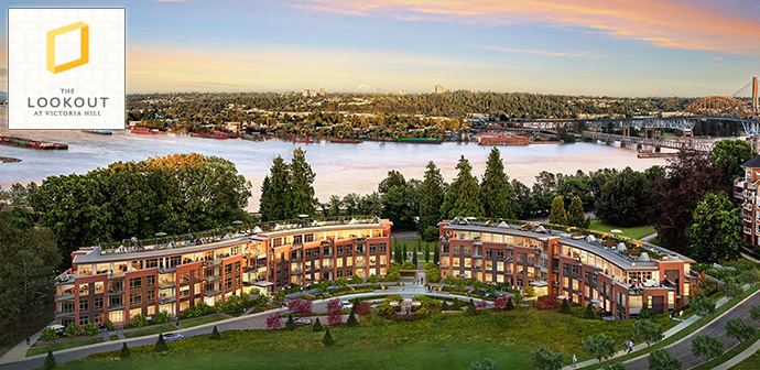 The Pinnacle of the Victoria Hill New Westminster real estate community development is coming soon at THE LOOKOUT by Onni Group of Companies