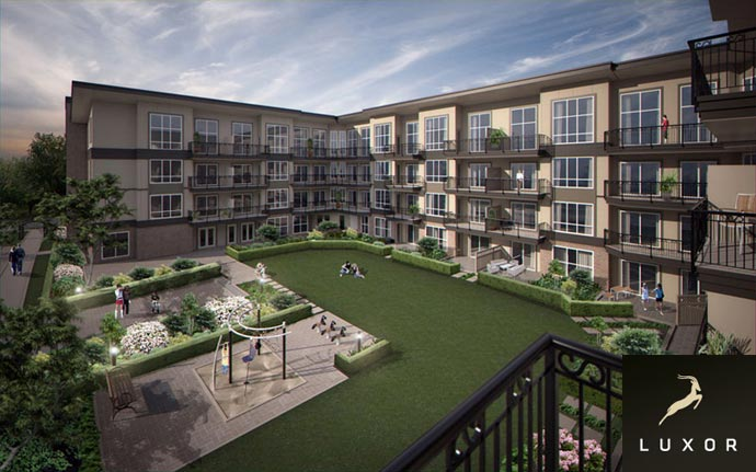 Another render of the Newton Luxor Surrey condominiums for sale.