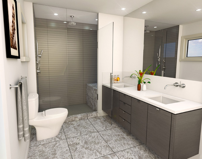 Another bathroom layout.