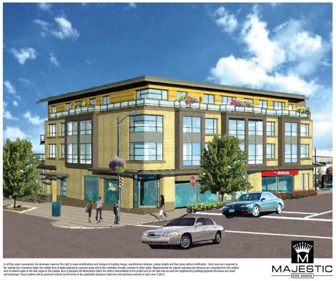 Majestic on Main condominium features.
