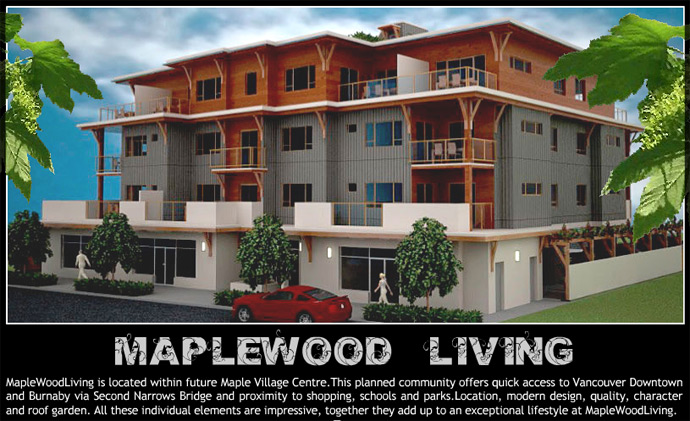 The new Maplewood North Vancouver real estate development at Old Dollarton Deep Cove condo living.