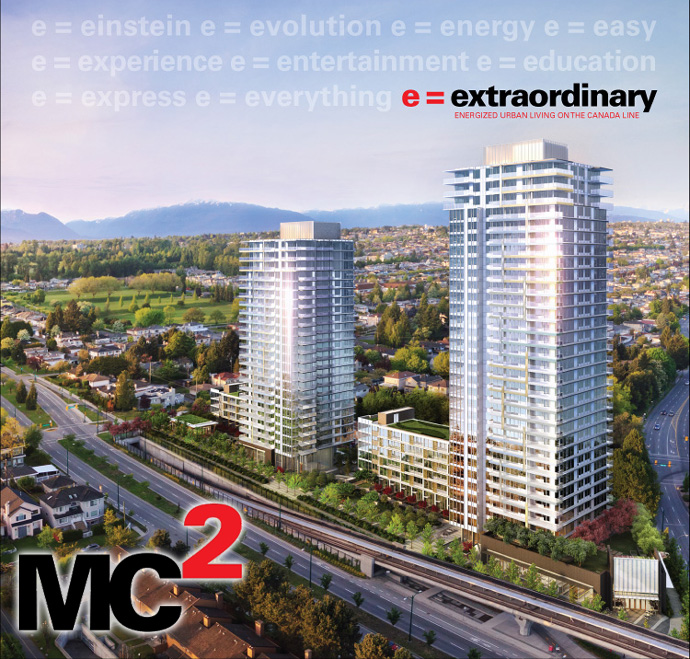 The new Vancouver MC2 Condo Towers by Intracorp Developers.
