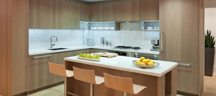 The Met Metrotown high-rise kitchens.