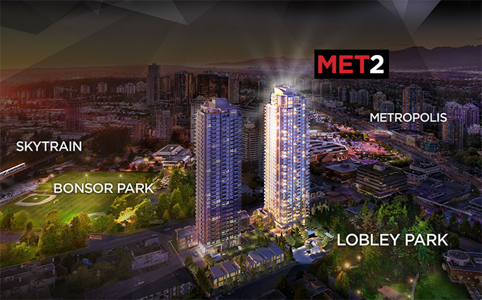 The MET 2 Burnaby condos for sale.