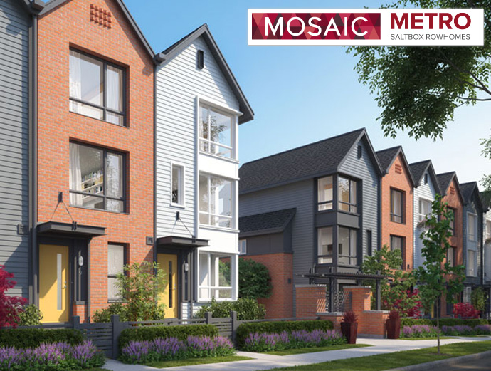 Presale Burnaby METRO by MOSAIC Row Homes.