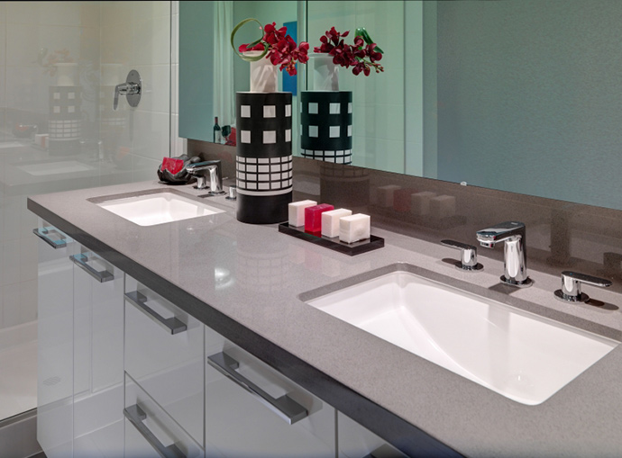 Elegant bathrooms with high-end Burnaby condominium features