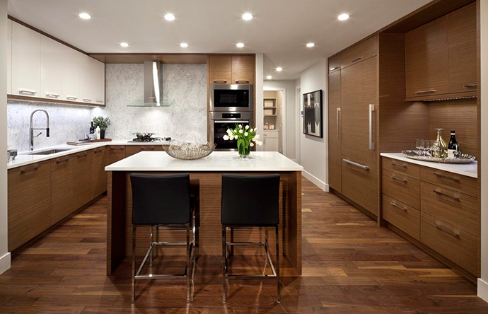 Amazing kitchens with premium appliances and cabinetry at the new Burnaby Metrotown Modello Estates and Sub-Penthouses.