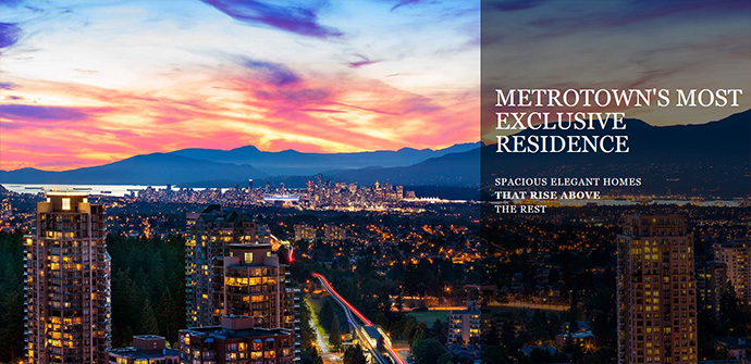 Burnaby Metrotown real estate's most coveted address.
