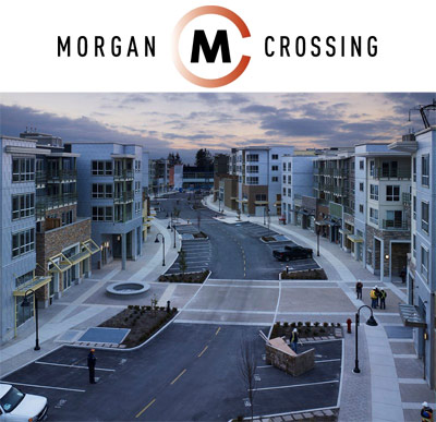 The newly completed Residences at Morgan Crossing South Surrey real estate development now offering heavily discounted condos and townhomes for sale.