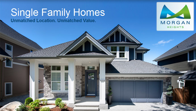 New Morgan Heights Surrey Homes for sale by Foxridge Qualico Company.