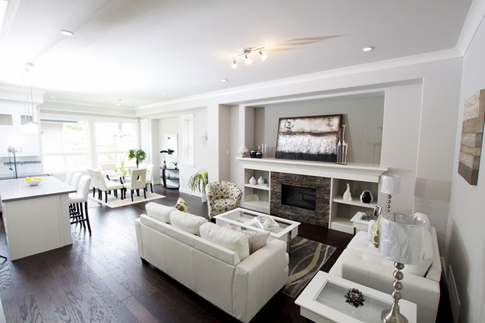 Spacious and bright living space at Morgan Surrey real estate development.
