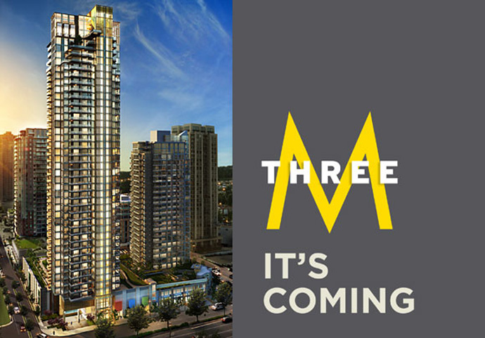 MThree by Cressey - landmark Coquitlam high-rise.