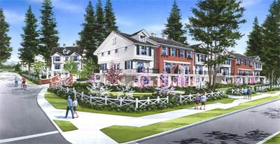 The presales family townhomes at the Nature's Corner Surrey real estate development are now selling.