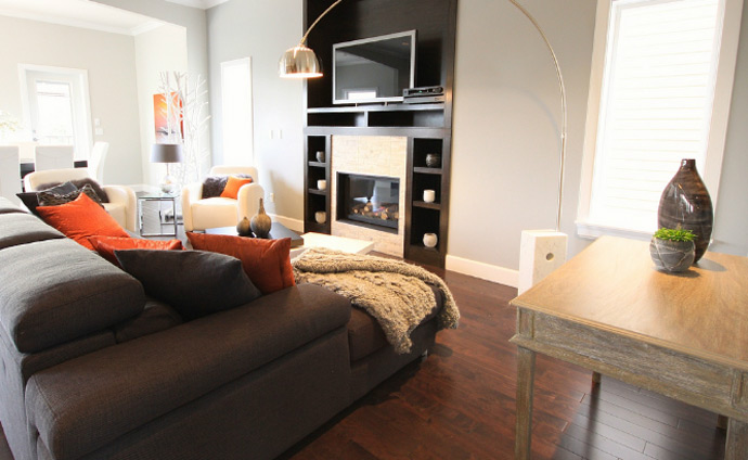 The living rooms at the New Avenues Burke Mountain Coquitlam real estate project