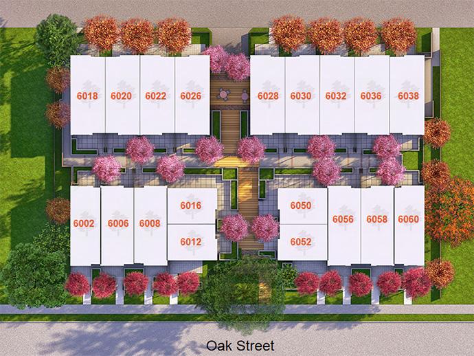 New Oak living site plan.