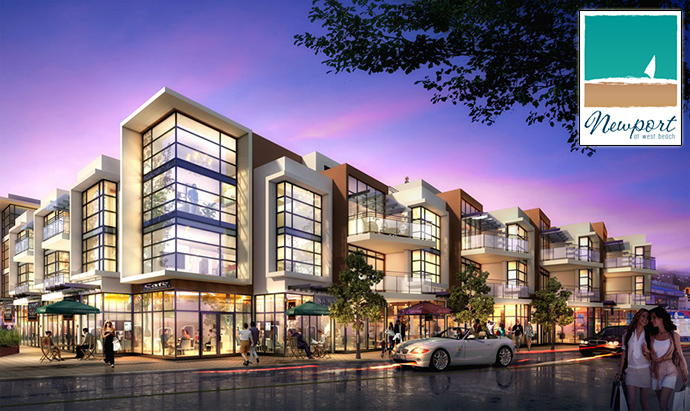 Boutique White Rock Newport at West Beach condos and townhome development.