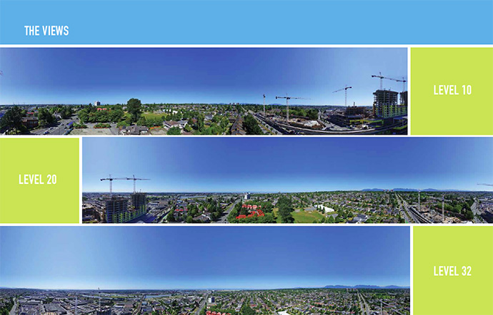 Spectacular views from both residential buildings at the new Northwest Vancouver apartment development.