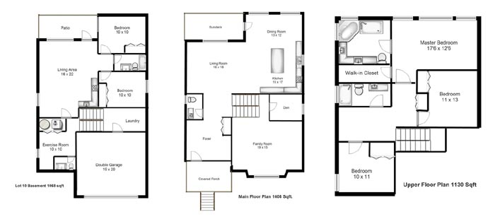 Unique three-level Coquitlam home plan at the Nour Burke Mountain real estate community.
