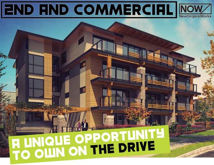 East Vancouver Commercial Drive condos for sale by NOW Developments.
