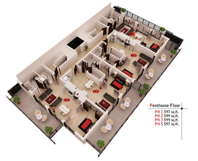 Now Development Vancouver penthouse floor.