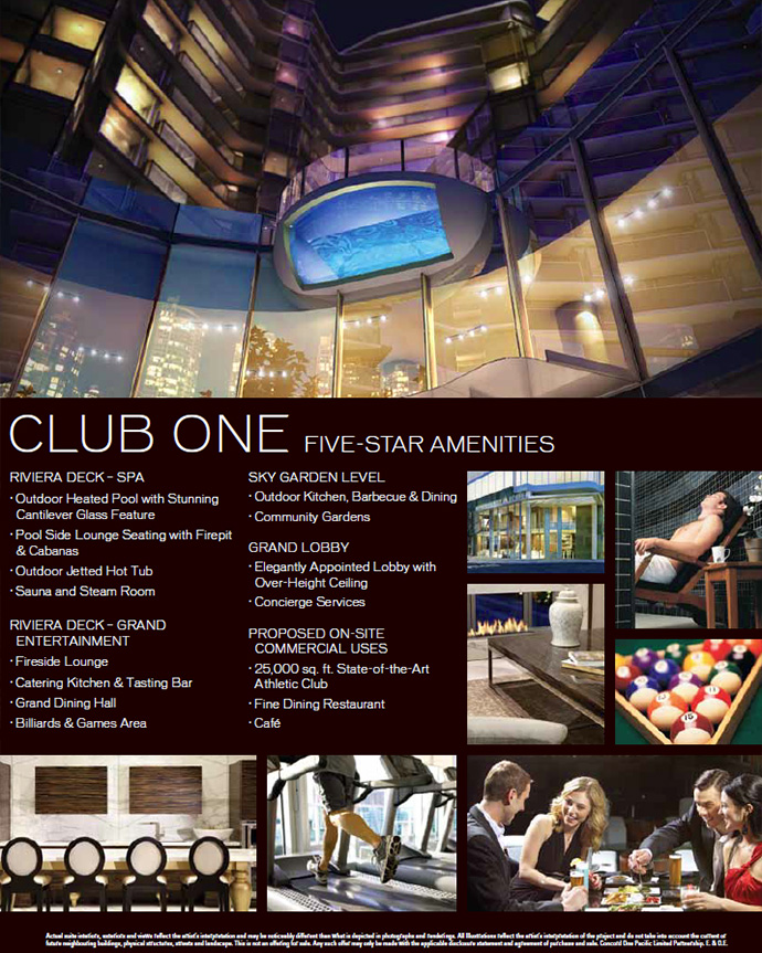 Club One at One Pacific condo towers.